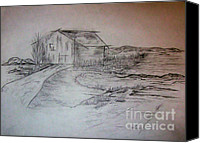 John Krakora Art Canvas Prints - Barn Canvas Print by John Krakora