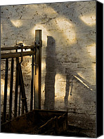 Cow Barn Canvas Prints - Barn Light Canvas Print by Odd Jeppesen