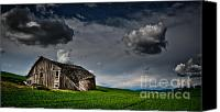 Haiku Canvas Prints - Barn no.1 Canvas Print by Niels Nielsen