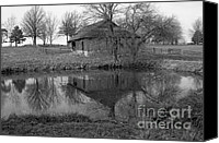 Kansas City Canvas Prints - Barn Reflection Canvas Print by Crystal Nederman