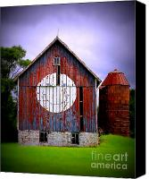 Barn Windows Canvas Prints - Barn Smile Canvas Print by Perry Webster