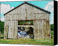 Secrets Canvas Prints - Barn Treasures Canvas Print by Cheryl Young