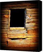 Barn Windows Canvas Prints - Barn Window Canvas Print by Perry Webster