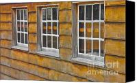 Barn Windows Canvas Prints - Barn Windows Canvas Print by E Robert Dee