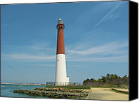 Barnegat Canvas Prints - Barnegat Lighthouse Canvas Print by Bill Cannon