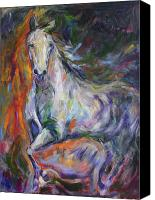 Williams Painting Canvas Prints - Baroque Mare Canvas Print by Diane Williams