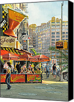Warm Colors Painting Canvas Prints - Barrow and Bleecker Canvas Print by Tom Hedderich