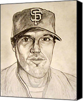 All Star Canvas Prints - Barry Zito Giants Starting Pitcher Canvas Print by Donald William