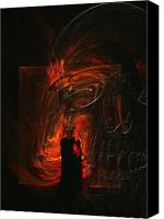 Frightening Digital Art Canvas Prints - Barter for your Soul Canvas Print by Jean Gugliuzza