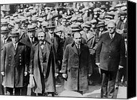 Onlookers Canvas Prints - Bartolomeo Vanzetti Left And Nicola Canvas Print by Everett