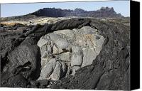 Volcanic Activity Canvas Prints - Basaltic Lava Flows From Lava Lake Canvas Print by Richard Roscoe