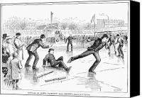 Skate Photo Canvas Prints - Baseball On Ice, 1884 Canvas Print by Granger