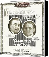 New York Yankees Canvas Prints - Baseball Program, 1923 Canvas Print by Granger