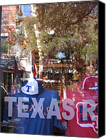 Texas Rangers Canvas Prints - Baseball Reflection Series Canvas Print by Shawn Hughes