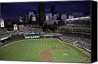 Minnesota Twins Canvas Prints - Baseball Target Field  Canvas Print by Paul Plaine