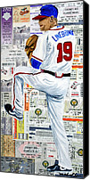 Major League Baseball Painting Canvas Prints - Baseball Tickets Canvas Print by Michael Lee