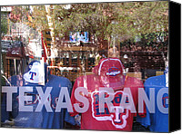Texas Rangers Canvas Prints - Baseball Visions Series II Canvas Print by Shawn Hughes