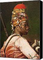 Old Master Painting Canvas Prints - Bashi Bazouk After Gerome Canvas Print by Enzie Shahmiri