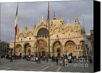 Byzantine Photo Canvas Prints - Basilica San Marco Canvas Print by Bernard Jaubert