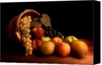 Basket Photo Canvas Prints - Basket of Fruit Canvas Print by Tom Mc Nemar
