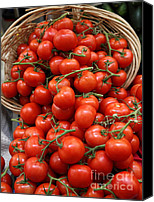 Fruit Markets Canvas Prints - Basket of Tomatoes - 5D17064 Canvas Print by Wingsdomain Art and Photography