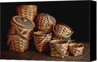 Home Decor Canvas Prints - Basket Still Life 01 Canvas Print by Tom Mc Nemar