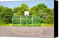 School Yard Canvas Prints - Basketball court Canvas Print by Tom Gowanlock