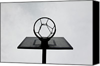 Cloud Glass Canvas Prints - Basketball Hoop Canvas Print by Christoph Hetzmannseder