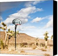 Basketball Canvas Prints - Basketball Hoop Canvas Print by Eddy Joaquim