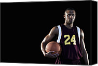 Basketball Canvas Prints - Basketball Player Canvas Print by Patrik Giardino