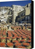 Group Of Women Canvas Prints - Baskets Filled With Tomatoes Stand Canvas Print by Luis Marden