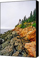 Acadia Canvas Prints - Bass Harbor Head Lighthouse Canvas Print by Joann Vitali