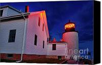 Acadia Canvas Prints - Bass Harbor Lighthouse Maine Canvas Print by John Greim