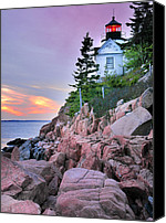 New England Canvas Prints - Bass Head Lighthouse Canvas Print by Thomas Schoeller