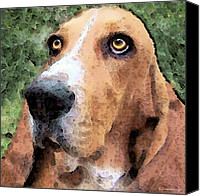 Soulful Canvas Prints - Basset Hound - Irresistible  Canvas Print by Sharon Cummings