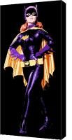 Crime Fighter Canvas Prints - Bat Girl Canvas Print by Dean Caminiti