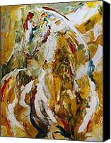 Abstract Painting Canvas Prints - Bathed in Gold Canvas Print by Laurie Pace