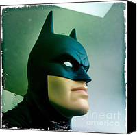 Crime Fighter Canvas Prints - Batman aka The Dark Knight Canvas Print by Nina Prommer