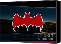 Dean Canvas Prints - Batman - Batmobile - Dark Knight Canvas Print by Paul Ward