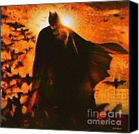 Dark Knight Canvas Prints - Batman Canvas Print by Elizabeth Coats