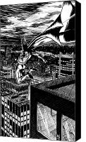 Super Heroes Canvas Prints - Batman Canvas Print by Ken Meyer jr