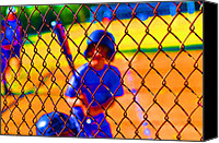 Batter Digital Art Canvas Prints - Batter Canvas Print by Peter  McIntosh