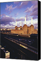 Battersea Canvas Prints - Battersea Power Station Canvas Print by Carlos Dominguez