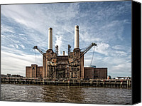 Battersea Canvas Prints - Battersea Power Station Canvas Print by Tim Booth