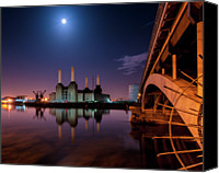 Battersea Canvas Prints - Battersea Power Station Canvas Print by Vulture Labs