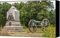 Civil War Anniversary Canvas Prints - Battery D 1st NY Light Artillery At Gettysburg Canvas Print by Randy Steele