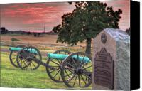 Civil War Anniversary Canvas Prints - Battery F Cannon Gettysburg Battlefield Canvas Print by Randy Steele