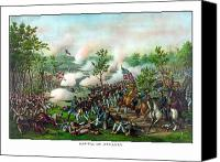 Atlanta Canvas Prints - Battle Of Atlanta Canvas Print by War Is Hell Store