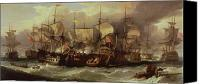 Engagement Painting Canvas Prints - Battle of Cape St Vincent Canvas Print by Sir William Allan