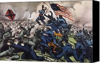 Charge Canvas Prints - Battle Of Fort Wagner, 1863 Canvas Print by Granger